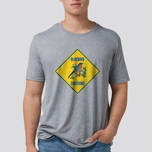 crossing-sign-bluebird-2 Mens Tri-blend T-Shir