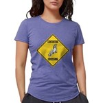 crossing-sign-cockatoo Womens Tri-blend T-Shir