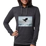 Soaring Bald Eagle Womens Hooded Shirt