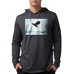 Soaring Bald Eagle Mens Hooded Shirt
