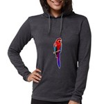 FIN-scarlet-macaw2 Womens Hooded Shirt