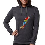 FIN-scarlet-macaw.p... Womens Hooded Shirt