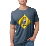 crossing-sign-macaw Mens Tri-blend T-Shirt