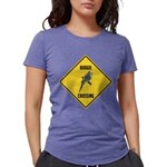 crossing-sign-budgie Womens Tri-blend T-Shirt