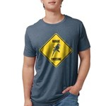 crossing-sign-budgie Mens Tri-blend T-Shirt