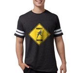 crossing-sign-parakeet Mens Football Shirt