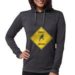 crossing-sign-parakeet Womens Hooded Shirt