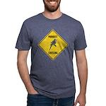 crossing-sign-parakeet Mens Tri-blend T-Shirt