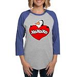 FIN-penguin-love-2-300ppi Womens Baseball Tee