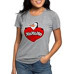 FIN-penguin-love-2-300ppi Womens Tri-blend T-Shirt