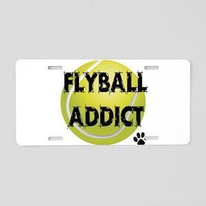 flyball-1 flat Aluminum License Plate