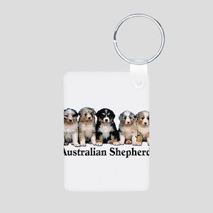 aussie pups with breed Aluminum Photo Keychain
