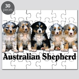 aussie pups with breed Puzzle
