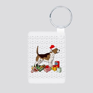 Beagle Pup Aluminum Photo Keychain