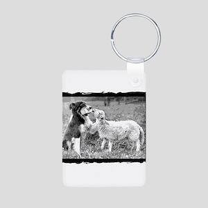 BC VINTAGE-A cutoutsq Aluminum Photo Keychain