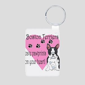 boston terriers paw prints2 Aluminum Photo Key