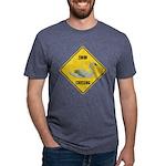 crossing-sign-swan Mens Tri-blend T-Shirt