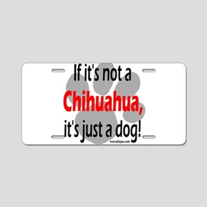 not chi-1 Aluminum License Plate