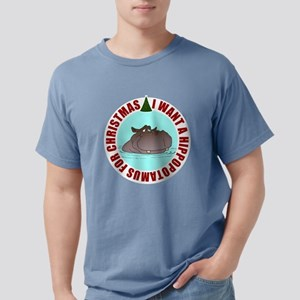 Hippo for Christmas Mens Comfort Colors Shirt
