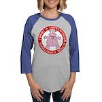 FIN-hugging-hippo-christmas Womens Baseball Te