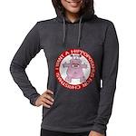 FIN-hugging-hippo-christmas Womens Hooded Shir