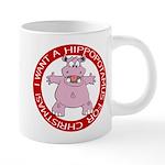 FIN-hugging-hippo-christmas 20 oz Ceramic Mega