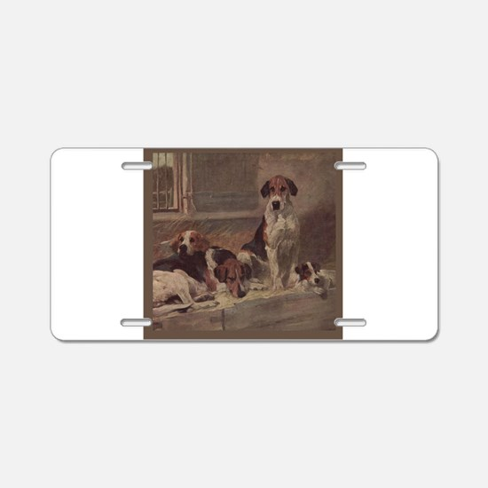 Unique American foxhound Aluminum License Plate