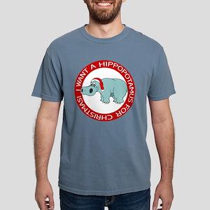 FIN-hippo-christmas-rev Mens Comfort Colors Sh