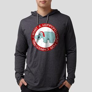 FIN-hippo-christmas-rev Mens Hooded Shirt