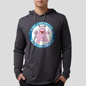 FIN-hippopotamus-for-hanukkah Mens Hooded Shir
