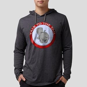 FIN-hippo-talk-tail-NEW Mens Hooded Shirt
