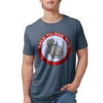 FIN-hippo-talk-tail-NEW Mens Tri-blend T-Shirt