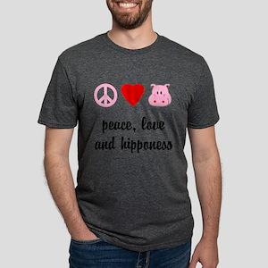 2-FIN-peace-love-hipponess-NEW Mens Tri-blend