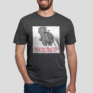 Hippo Talk To The Tail Mens Tri-blend T-Shirt