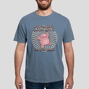 Happy Hippo Mens Comfort Colors Shirt