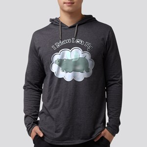 FIN-flying-hippo Mens Hooded Shirt