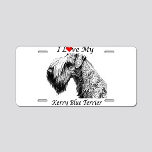 I Luv Kerry-3 Aluminum License Plate