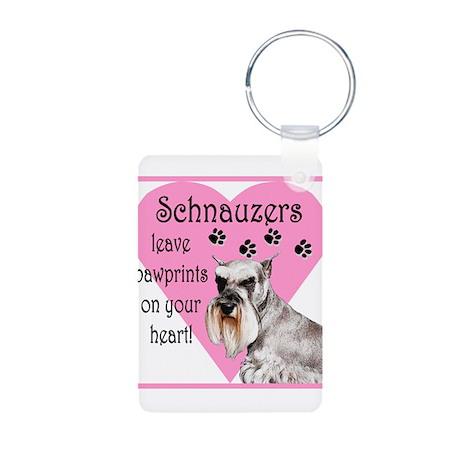 schnauzers paw prints1.png Aluminum Photo Keychain