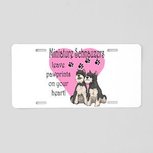 miniature schnauzer paw prints darks2 Aluminum