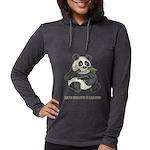 Panda Eats Shoots & Leaves Womens Hooded Shirt