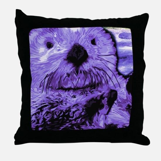 Cool Sea otter Throw Pillow