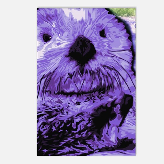 Funny Sea otter Postcards (Package of 8)