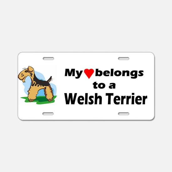 Cute Welsh terrier lover Aluminum License Plate