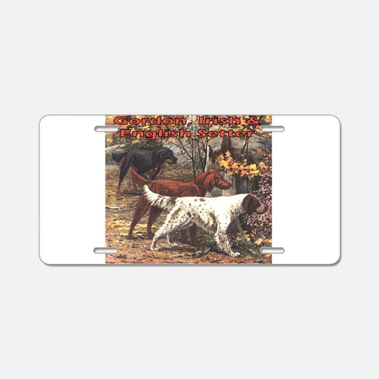 Cute Irish setter Aluminum License Plate