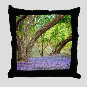 Jacaranda Grove Throw Pillow