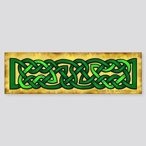 Celtic Knotwork (Green) Bumper Sticker