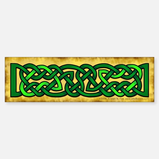 Celtic Knotwork (Green) Bumper Bumper Stickers