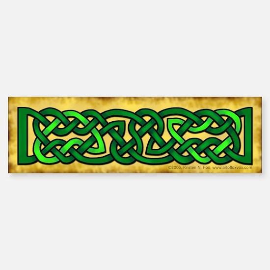 Celtic Knotwork (Green) Bumper Car Car Sticker