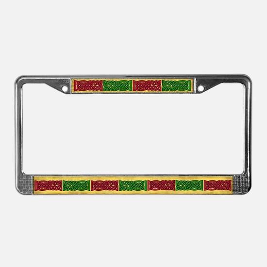 Celtic Knotwork (Red/Green) License Plate Frame