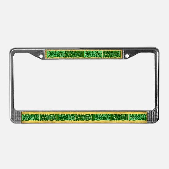 Celtic Knotwork (Green) License Plate Frame